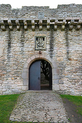 Entrance gate to Craigmillar Castle in Edinburgh, Scotland, UK