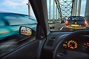 Nederland, Nijmegen, 7-2-2008..De Waalbrug van Nijmegen. Het KAN heeft voorspeld dat als er geen extra brug komt in 5 jaar tijd het verkeer over de A 325 van Arnhem naar Nijmegen vastgelopen zal zijn. Deze brug is de enige toegangsweg uit het noorden, de Betuwe. ..Foto: Flip Franssen/Hollandse Hoogte