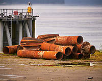 Pillings in Wrangell. Image taken with a Nikon D300 camera and 70-300 mm VR lens.