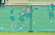 (L) PAWEL GOLANSKI & (2L) MARIUSZ LEWANDOWSKI & (2R) JACEK KRZYNOWEK & (R) RAFAL MURAWSKI (POLAND) DURING CLOSED TRAINING SESSION IN BAD WALTERSDORF DURING SOCCER EUROPEAN CHAMPIONSHIP EURO 2008. .BAD WALTERSDORF , AUSTRIA , JUNE 05, 2008.( PHOTO BY ADAM NURKIEWICZ / MEDIASPORT )..PICTURE ALSO AVAIBLE IN RAW OR TIFF FORMAT ON SPECIAL REQUEST.