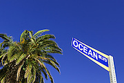 Street Sign of Ocean Blvd, in Corona Del Mar Orange County, CA