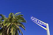 Street Sign of Ocean Blvd, in Corona Del Mar Orange County, CA