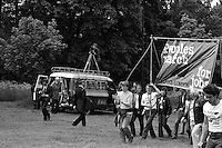 BBC filming the People's  March for Jobs, Yorkshire and Liverpool to London. Hemel Hempsted. 26/05/1981