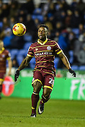 Queens Park Rangers Midfielder, Kazenga LuaLua (28) during the EFL Sky Bet Championship match between Reading and Queens Park Rangers at the Madejski Stadium, Reading, England on 12 January 2017. Photo by Adam Rivers.