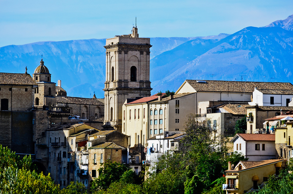 The massif Maiella rises to the west of Lanciano.