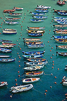 2000, Vernazza, Italy --- Moored Boats --- Image by © Owen Franken/CORBIS