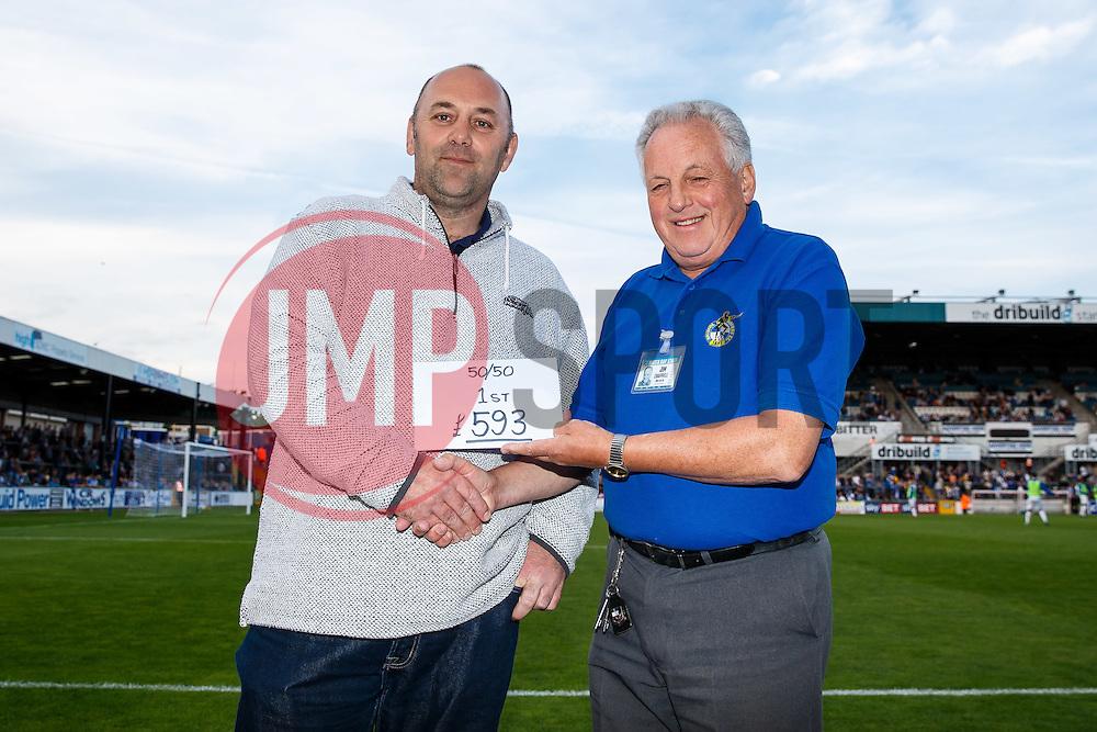 50/50 draw first prize winner - Mandatory byline: Rogan Thomson/JMP - 07966 386802 - 31/07/2015 - FOOTBALL - Memorial Stadium - Bristol, England - Bristol Rovers v West Bromwich Albion - Phil Kite Testimonial Match.