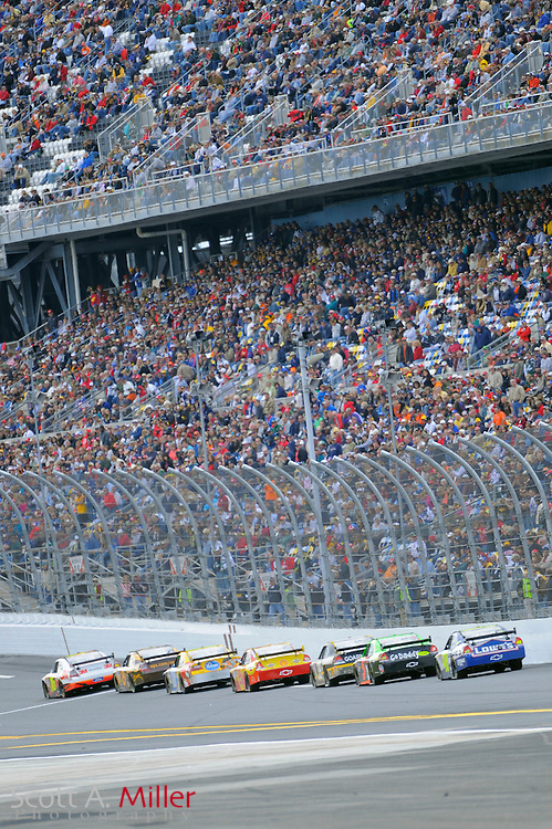 Feb. 11, 2010; Daytona Beach, FL, USA; General view of race one of the Gatorade Duel at Daytona International Speedway. ©2010 Scott A. Miller