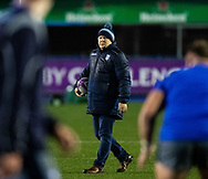 Head Coach John Mulvihill of Cardiff Blues during the pre match warm up<br /> <br /> Photographer Simon King/Replay Images<br /> <br /> European Rugby Challenge Cup Round 2 - Cardiff Blues v Leicester Tigers - Saturday 23rd November 2019 - Cardiff Arms Park - Cardiff<br /> <br /> World Copyright © Replay Images . All rights reserved. info@replayimages.co.uk - http://replayimages.co.uk