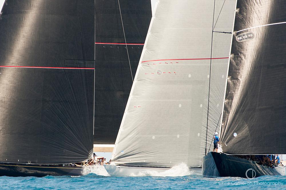 Bermuda, 13th June 2017. The J Class yachts start their race in the America's Cup Superyacht regatta.