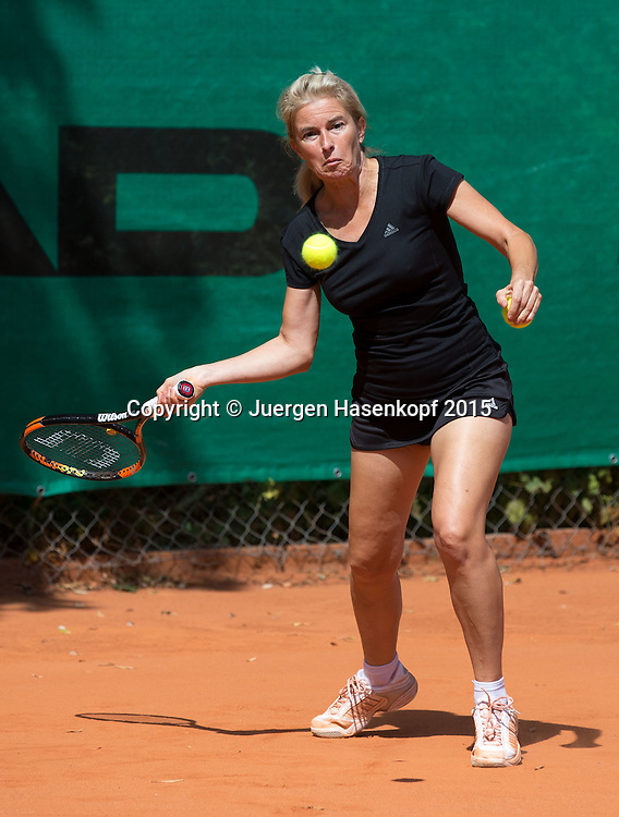 Munich Senior Open 2015 WS45, Singles ,Petra Kurz<br /> <br /> Tennis - Munich Senior Open - ITF Senioren Turnier -  Tennis Kooperation Muenchen-Johanniskirchen - Muenchen - Bayern - Germany  - 31 July 2015. <br /> &copy; Juergen Hasenkopf