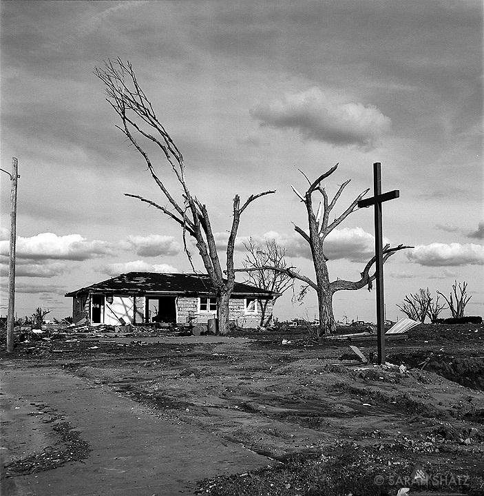 Greensburg, Kansas, after an F5 tornado