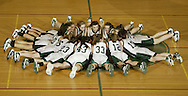 The Cornwall girls' basketball team gets together on the court just before playing Honeoye Falls-Lima in a state Class A semifinal game at Hudson Valley Community College in Troy on March 14, 2008.
