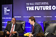 The Wall Street Journal The Future of Health Care Breakfast Interview featuring Bernard J. Tyson, Chairman and CEO of Kaiser Permanente with Dennis Berman, Financial Editor of the Wall Street Journal, in New York City on May 11, 2017. (photo by Gabe Palacio)