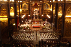 Under the auspices of the Maltese and Gozitan bishops, priests take part in a Mass to renew their vows at St John's Co-Cathedral in Valletta on Maundy Thursday..