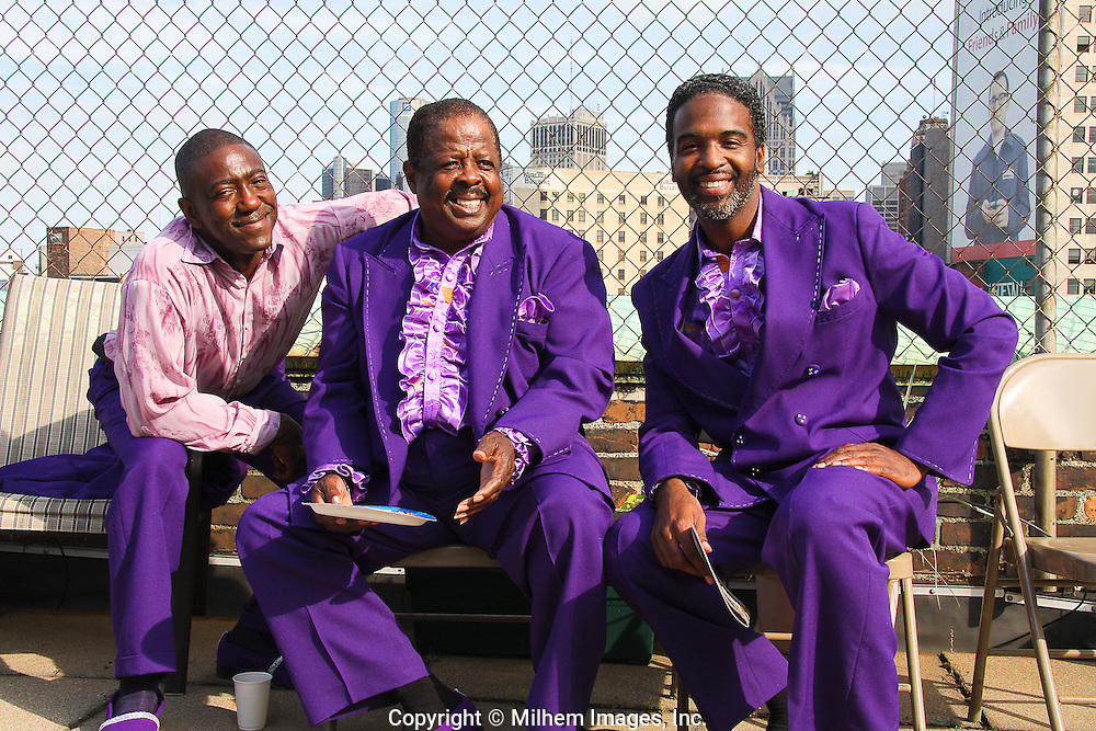 A private reception for Motown legendary group, the Royal Jokers who performed on Father's Day at the Central United Methodist Church on Woodward Avenue.
