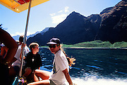Boat ride, Napali Coast, Kauai, Hawaii