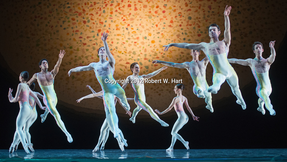 "Texas Ballet Theater performs Glen Tetly's ""Voluntaries"" during a dress rehearsal on February 28, 2013 at Bass Performance Hall in Fort Worth, Texas"