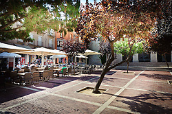 A cafe in every corner in Figueres, Catalonia, Spain<br /> <br /> (c) Andrew Wilson | Edinburgh Elite media