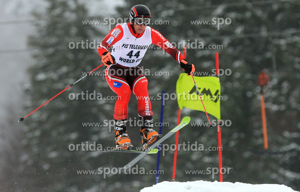 Pintar Luka of Slovenia at FIS Telemark World Cup Kobla 2009 race,  on January 18, 2009, in Kobla, Bohinj, Slovenia.  (Photo by Vid Ponikvar / Sportida)