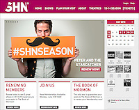 SHN's website, a San Francisco-based theatrical entertainment company, 2013.