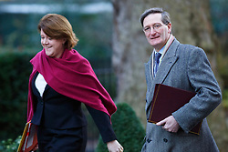 © licensed to London News Pictures. London, UK 14/01/2014. Culture Secretary Maria Miller and Attorney General Dominic Grieve attending to a cabinet meeting on Downing Street on Tuesday, 14 January 2014. Photo credit: Tolga Akmen/LNP