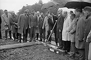 21/06/1965<br /> 06/21/1965<br /> 21 June 1965<br /> Cutting first sod for the Irish-Swiss Institute of Horology, Blanchardstown, Dublin. The institute, that was to hold courses in watch repairing,was due to an agreement between the Department of Education and the Swiss Watch Industry. Picture shows Mr. George Colley, Minister for Education, cutting the first sod at the ceremony.