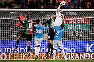 Onderwerp/Subject: NEC - VVV Venlo - Eredivisie<br /> Reklame:  <br /> Club/Team/Country: <br /> Seizoen/Season: 2012/2013<br /> FOTO/PHOTO: Ruud BOYMANS (C) of NEC takes a shot at goal and Goalkeeper Niki MAENPAA (BEHIND) of VVV Venlo makes a save. (Photo by PICS UNITED)<br /> <br /> Trefwoorden/Keywords: <br /> #04 $94 ±1355229055132<br /> Photo- & Copyrights © PICS UNITED <br /> P.O. Box 7164 - 5605 BE  EINDHOVEN (THE NETHERLANDS) <br /> Phone +31 (0)40 296 28 00 <br /> Fax +31 (0) 40 248 47 43 <br /> http://www.pics-united.com <br /> e-mail : sales@pics-united.com (If you would like to raise any issues regarding any aspects of products / service of PICS UNITED) or <br /> e-mail : sales@pics-united.com   <br /> <br /> ATTENTIE: <br /> Publicatie ook bij aanbieding door derden is slechts toegestaan na verkregen toestemming van Pics United. <br /> VOLLEDIGE NAAMSVERMELDING IS VERPLICHT! (© PICS UNITED/Naam Fotograaf, zie veld 4 van de bestandsinfo 'credits') <br /> ATTENTION:  <br /> © Pics United. Reproduction/publication of this photo by any parties is only permitted after authorisation is sought and obtained from  PICS UNITED- THE NETHERLANDS