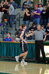 20 January 2017: IHSA Boys Basketball game during the McLean County Tournament at Shirk Center in Bloomington Illinois - EP-G (El Paso Gridley) Titans v DeeMack (Deer Creek Mackinaw) Chiefs