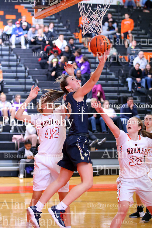 15 November 2017:  Central Catholic Saints v Normal Ironmen at Girls Intercity in the gym at Normal Community in Normal IL