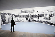 """dOCUMENTA (13) in Kassel, Germany..Friedericianum..Goshka Macuga. """"Of what is, that it is; of what is not, that is not 1"""", 2012."""