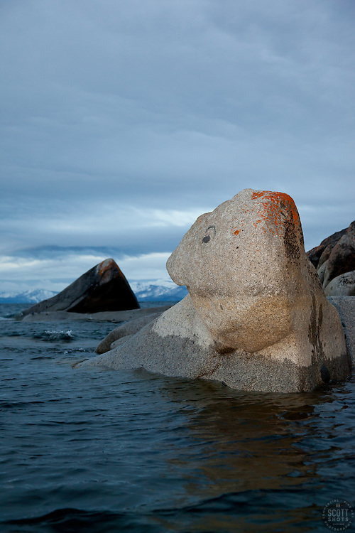 """""""Boulders at Lake Tahoe 32"""" - These boulders were photographed in the early morning near Speedboat Beach, Lake Tahoe."""