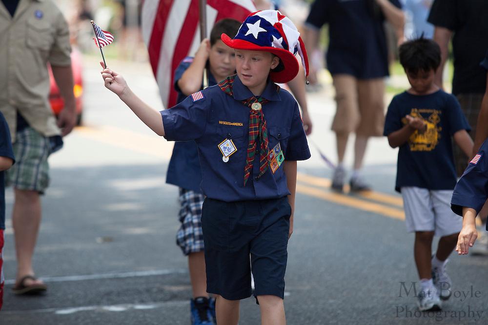 Cub Scout Pack 381 Washington Township, NJ: Pitman 4th of July Parade down Broadway in Pitman NJ on Wednesday July 4, 2012. (photo / Mat Boyle)