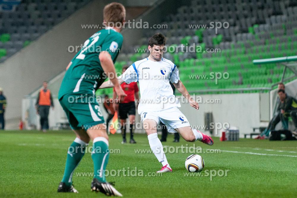 Alen Jogan of Hit Gorica during football match between NK Olimpija and ND Hit Gorica of 29th Round of PrvaLiga, on April 22, 2011, in SRC Stozice, Ljubljana, Slovenia. (Photo by Matic Klansek Velej / Sportida)