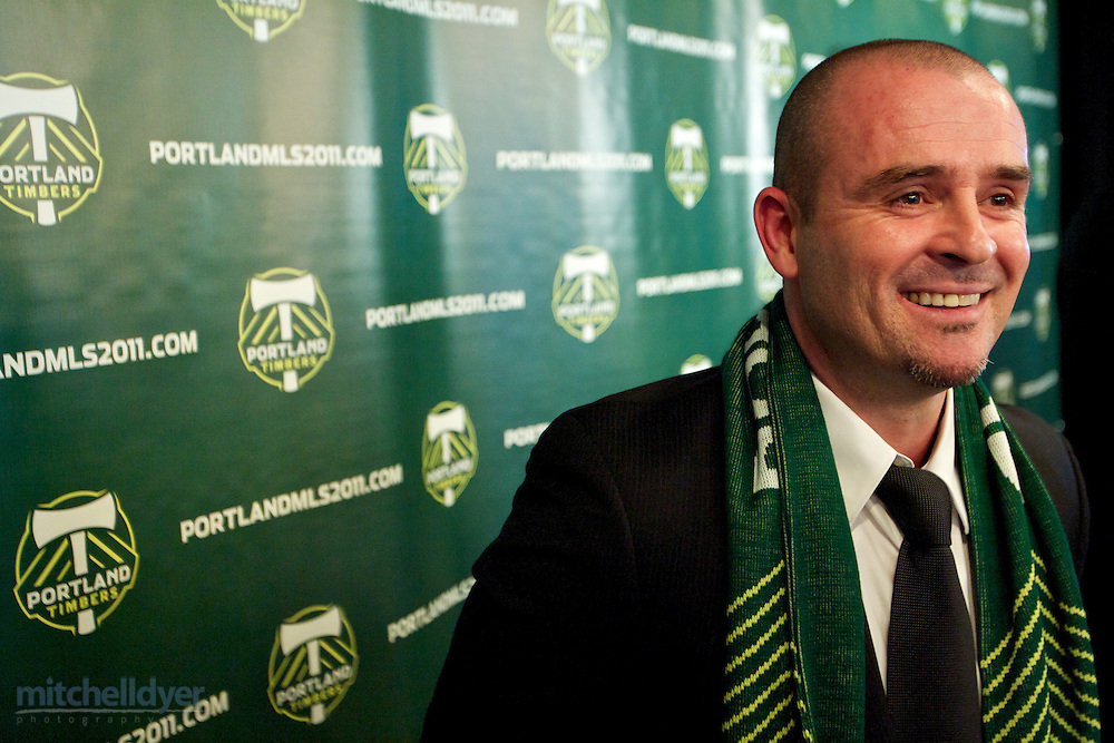 Press conference to annouce new Timbers MLS head coach John Spencer Photo by Portland Oregon Photographer Craig Mitchelldyer www.craigmitchelldyer.com 503.513.0550