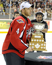 Taylor Hall and the Windsor Spitfires won the 2010 MasterCard Memorial Cup in Brandon, MB with a 9-1 win over the host Wheat Kings on Sunday May 23. Photo by Aaron Bell/CHL Images