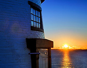 Owls Head Lighthouse sunrise, Maine, USA