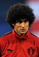 Football Fifa Brazil 2014 World Cup Matchs-Qualifier / Europe - Group A /<br /> Croatia vs Belgium 1-2  ( Maksimir Stadium - Zagreb , Croatia )<br /> Marouane FELLAINI of Belgium , during the match between Croatia and Belgium