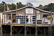 Geechie Seafood along Shem Creek in Mount Pleasant, South Carolina.