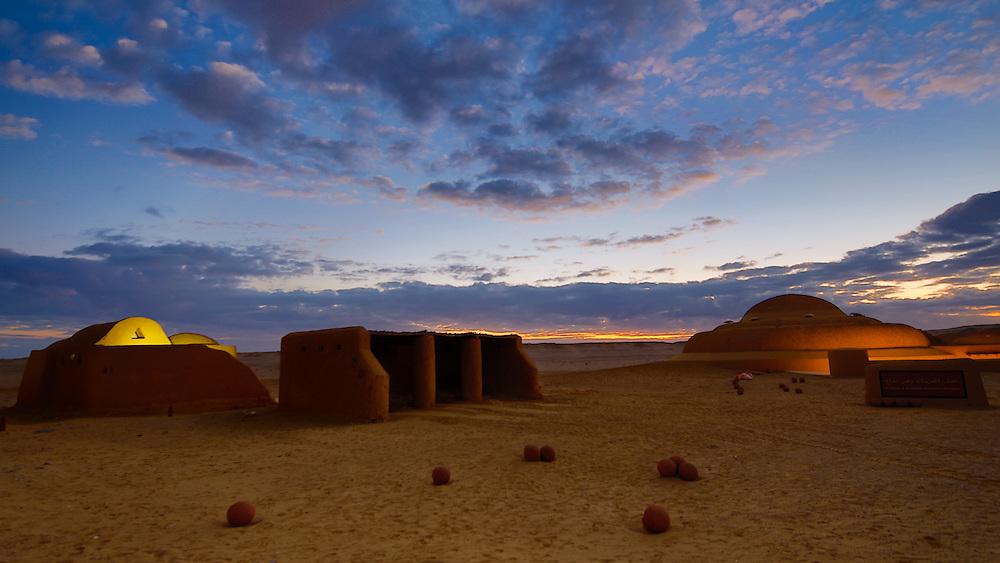Sunset at Wadi El Hitan , in Fayoum, Egypt