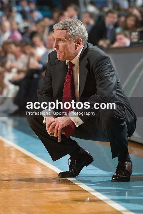 26 February 2006: Terrapin head coach Gary Williams during a Maryland Terrapins 57-81 loss to the North Carolina Tar Heels, in the Dean Smith Center in Chapel Hill, NC.