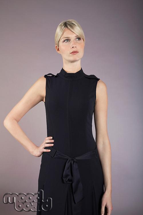 Businesswoman with hand on hip portrait