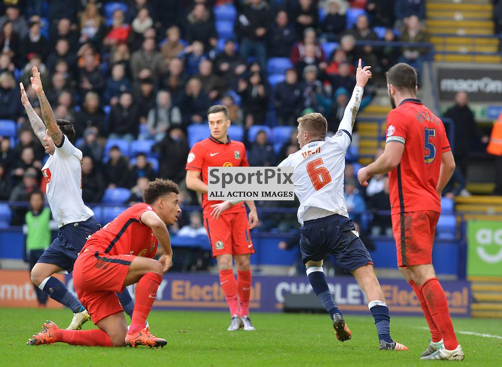 Josh Vela claims for a Bolton penalty against Blackburn.....(c) BILLY WHITE | SportPix.org.uk