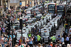 JUN 11 2014 London black cab demo