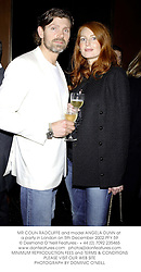 MR COLIN RADCLIFFE and model ANGELA DUNN at a party in London on 5th December 2002.PFY 59