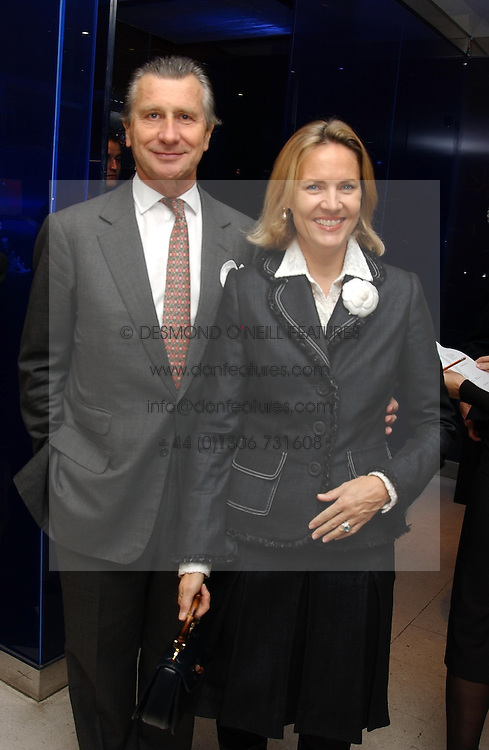 MR & MRS ARNAUD BAMBERGER at a dinner hosted by Cartier to celebrate the opening of the 2004 Frieze Art Fair, held at Yauacha 15-17 Broadwick Street, London W1 on 13th October 2004.<br /><br />NON EXCLUSIVE - WORLD RIGHTS