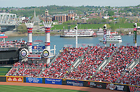 The Great American Ball Park and Riverboats on the Ohio