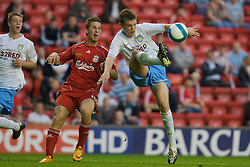 LIVERPOOL, ENGLAND - Wednesday, May 7, 2008: Liverpool's Krisztian Nemeth and Aston Villa's Shane Lowry during the play-off final of the FA Premier League Reserve League at Anfield. (Photo by David Tickle/Propaganda)
