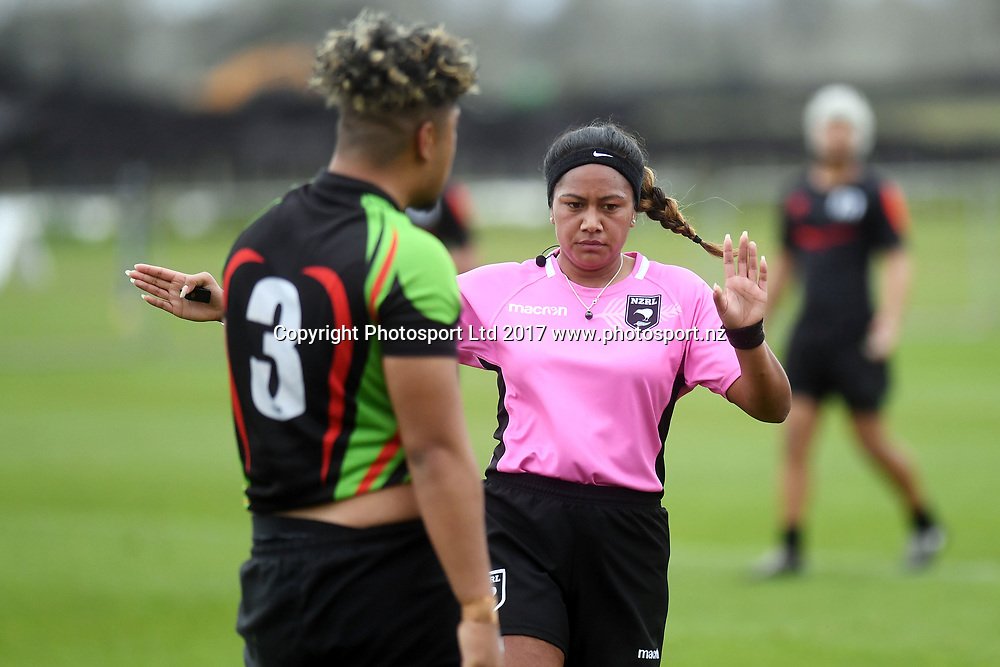 Ref, Manukura v Aorere College, NZRL National Secondary Schools Rugby League Championships, Day 3. Bruce Pulman Park, Auckland. 6 September 2017. Copyright Image: Andrew Cornaga / www.photosport.nz