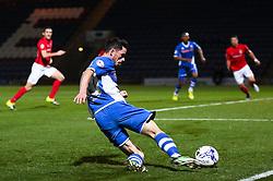 Ian Henderson of Rochdale crosses - Mandatory byline: Matt McNulty/JMP - 07966 386802 - 20/10/2015 - FOOTBALL - Gigg Lane - Rochdale, England - Rochdale v Coventry - Sky Bet League One